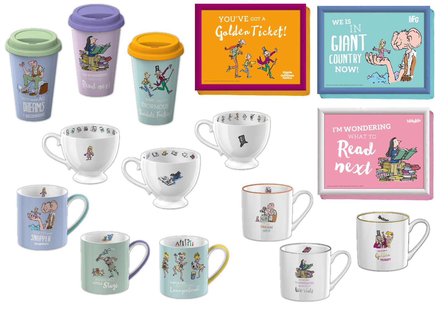 Roald Dahl Literary Estate sign Creative Tops as master homeware licensee