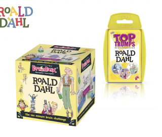 New Roald Dahl Top Trumps and Brainbox Game Formats